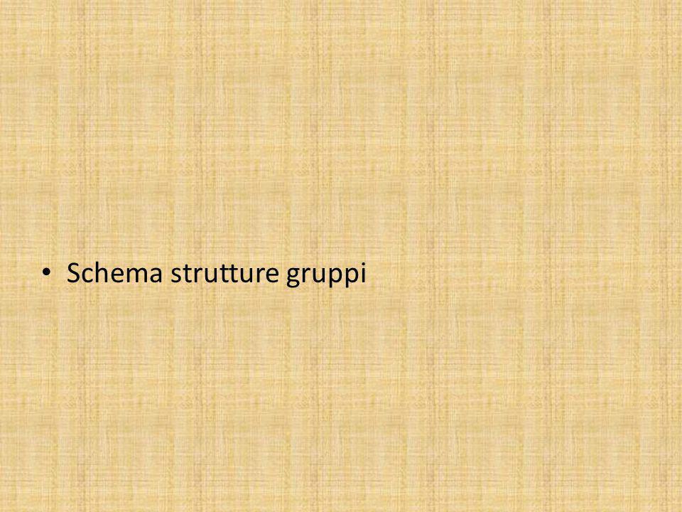 Schema strutture gruppi