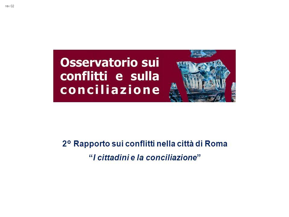 rev 02 2° Rapporto sui conflitti nella città di Roma I cittadini e la conciliazione