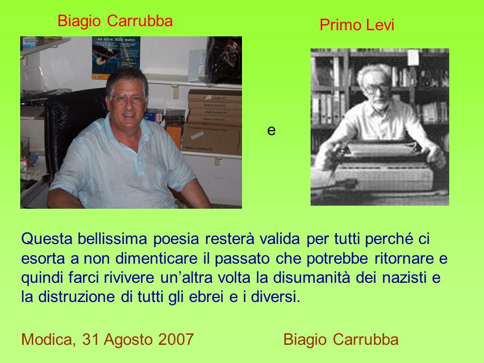 Questo lavoro è stato fatto per la parte informatica e di super visione al testo da Carmelo Santaera e per la parte letterario- poetica da Biagio Carrubba