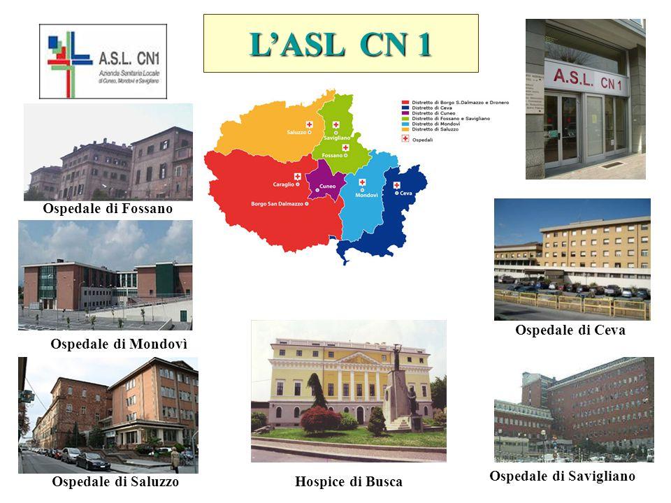 L'ASL CN 1 Ospedale di Fossano Ospedale di Ceva Ospedale di Mondovì Ospedale di Savigliano Ospedale di SaluzzoHospice di Busca