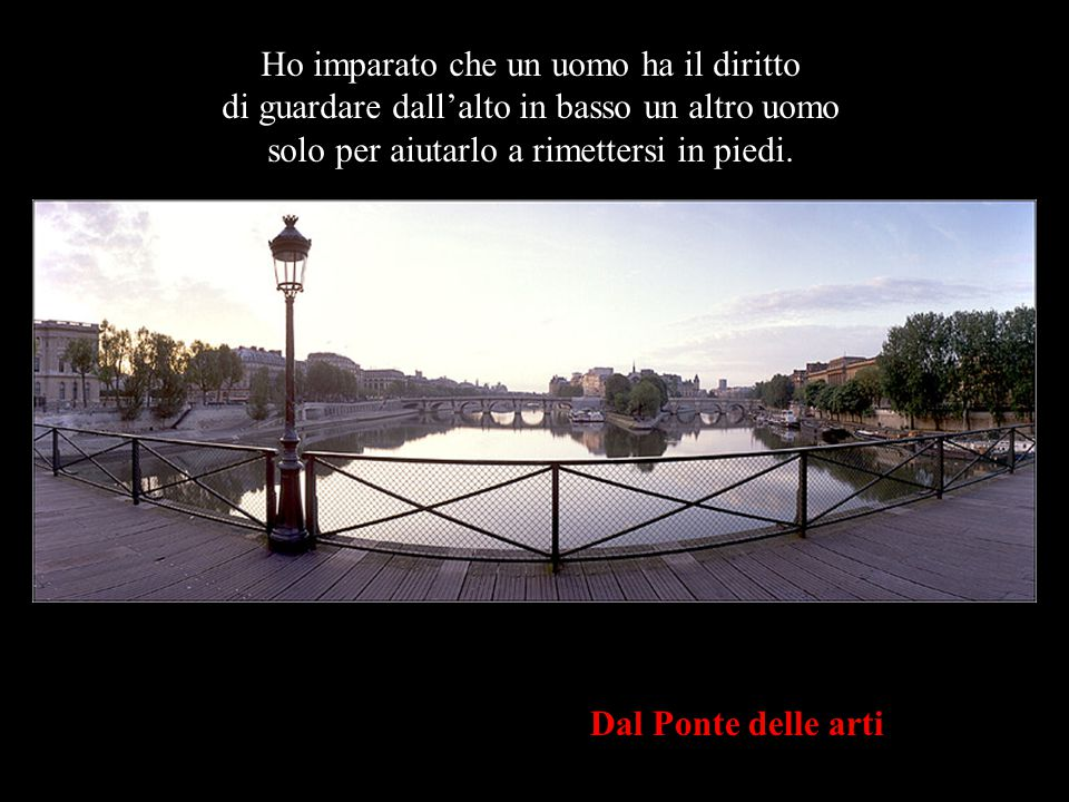 L'Istituto di Francia & il Ponte Nuovo dal Ponte delle Arti Ho imparato che quando un neonato stringe per la prima volta il dito di suo padre nel pugn