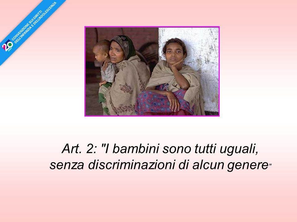 Art. 37: Nessun bambino deve essere sottoposto a tortura o trattamento disumano e crudele