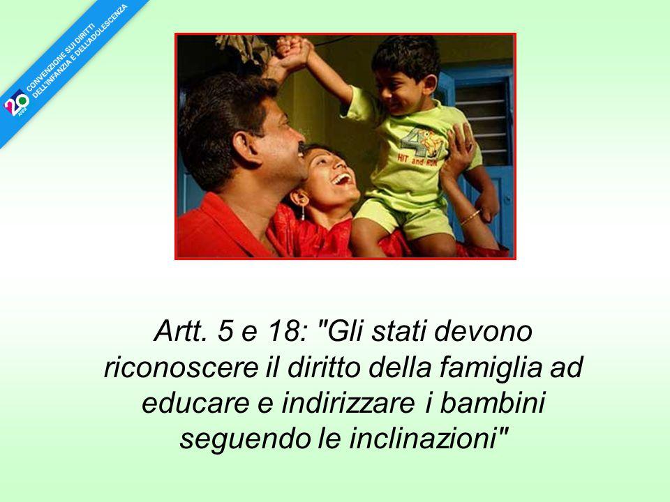 Artt. 5 e 18: