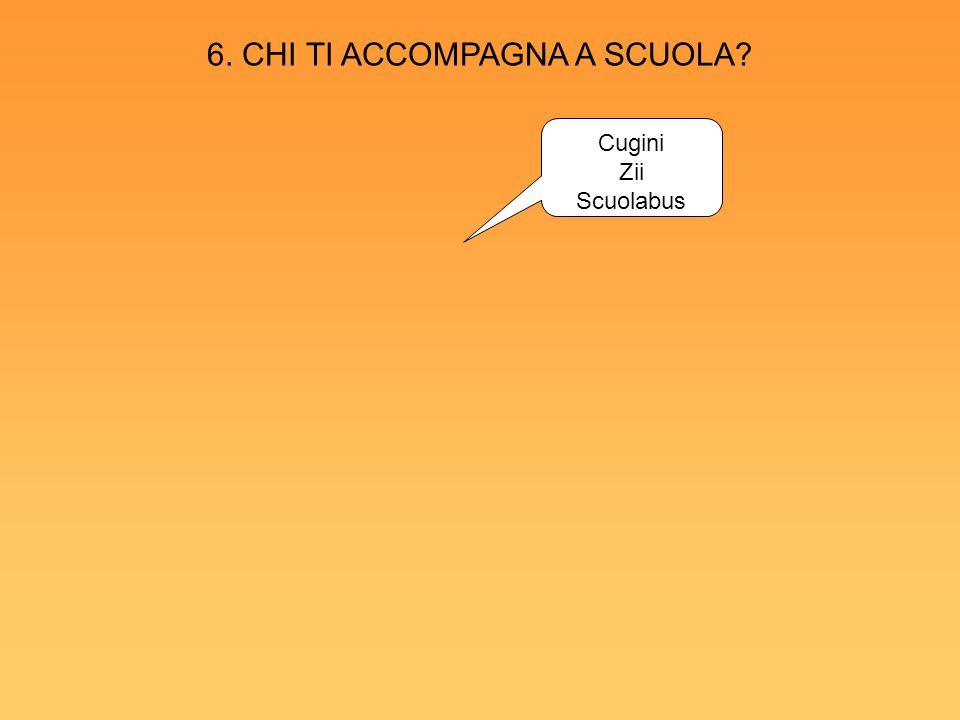 Cugini Zii Scuolabus 6. CHI TI ACCOMPAGNA A SCUOLA?