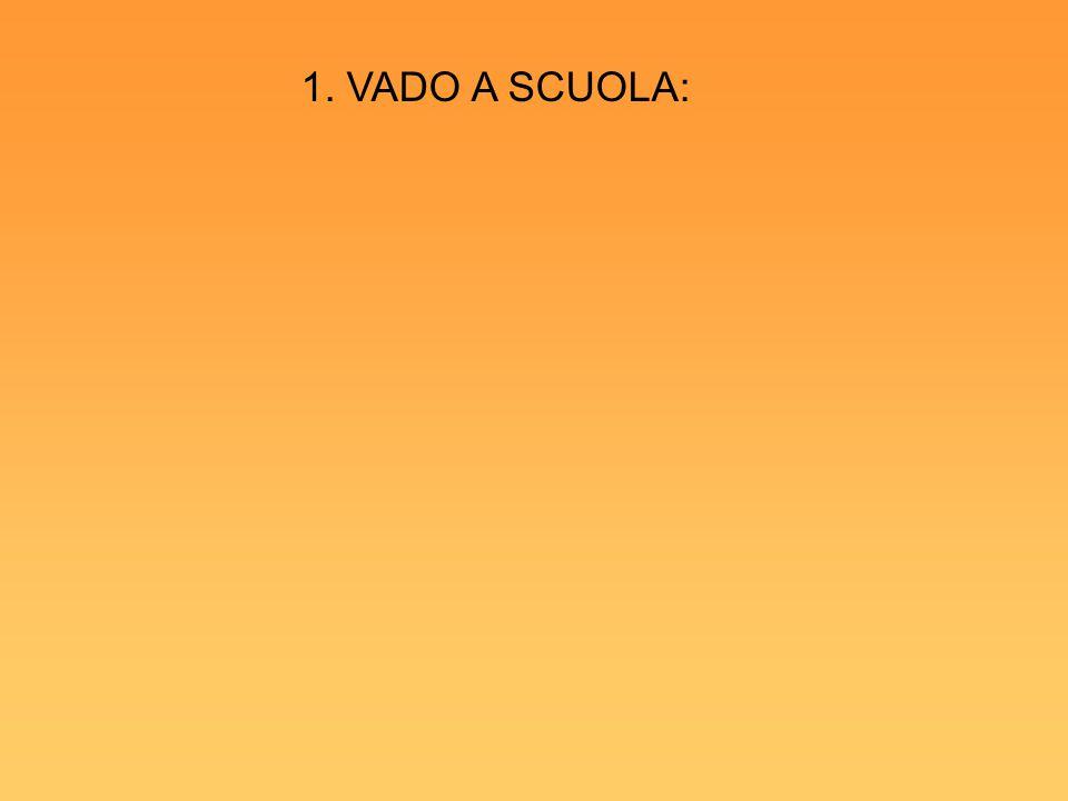 1. VADO A SCUOLA: