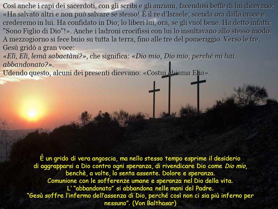 Mentre uscivano, incontrarono un uomo di Cirene, chiamato Simone, e lo costrinsero a portare la sua croce. Giunti al luogo detto Gòlgota, che signific
