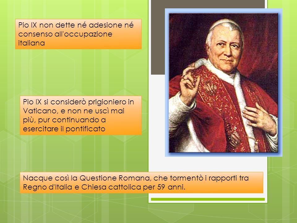 Lo Stato della Chiesa per circa un millennio occupò buona parte dell'Italia centrale fu integralmente annesso al Regno d'Italia nel 1870 quando i bers