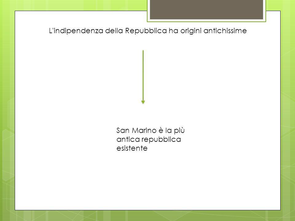 L indipendenza della Repubblica ha origini antichissime San Marino è la più antica repubblica esistente
