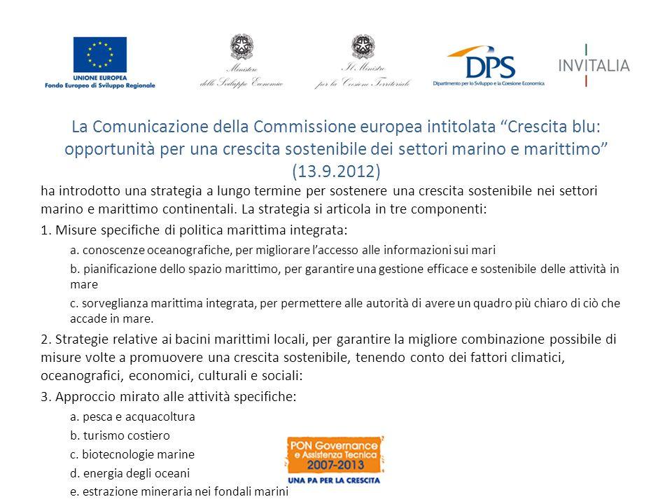 """La Comunicazione della Commissione europea intitolata """"Crescita blu: opportunità per una crescita sostenibile dei settori marino e marittimo"""" (13.9.20"""