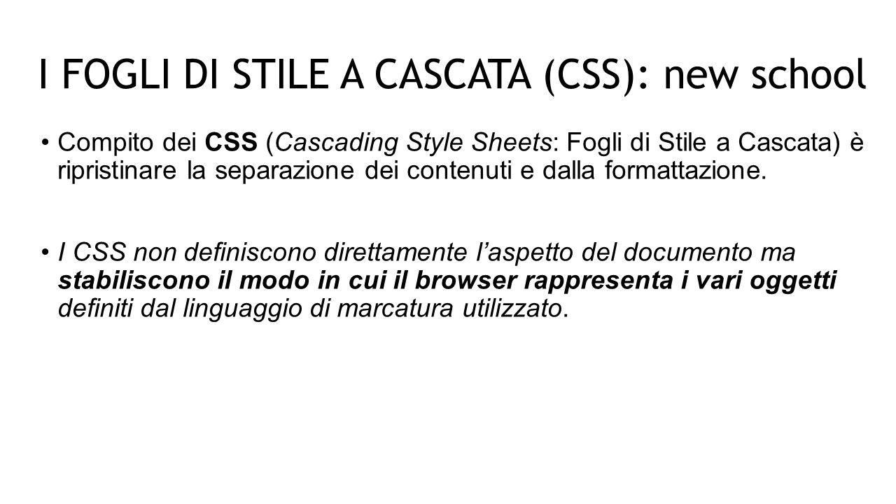 FOGLI DI STILE INCORPORATI Si specificano gli stili direttamente nel codice XHTML attraverso il tag da inserire nel tag : /*<![CDATA[*/ … /*]]>*/ Le stringhe /* */ servono a rispettare le regole dell'XML Questo metodo è adatto per pagine singole in cui è necessario specificare stili particolari PRIMA PARTE: COLLEGARE I CSS A UN DOCUMENTO XHTML