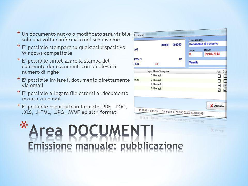 * Un documento nuovo o modificato sarà visibile solo una volta confermato nel suo insieme * E' possibile stampare su qualsiasi dispositivo Windows-com