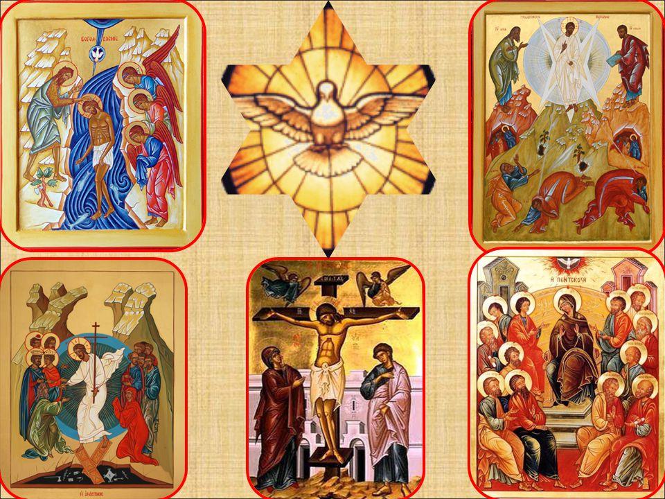 (foto 8) I vangeli riferiscono esplicitamente la dimensione trinitaria di alcuni eventi, come: il Battesimo di Gesù, la sua Trasfigurazione, la Morte la Risurrezione, la Pentecoste.