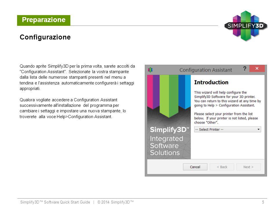 Flusso di Lavoro Anteprima dei file G-Code Simplify3D™ Software Quick Start Guide   © 2014 Simplify3D™16 Le Build Statistics (nell angolo in alto a sinistra della finestra di Preview ) mostrano queste tre stime: 1.