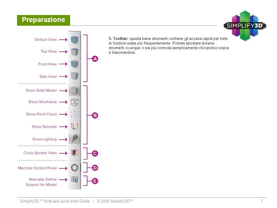 Preparazione Simplify3D™ Software Quick Start Guide   © 2014 Simplify3D™8 A.