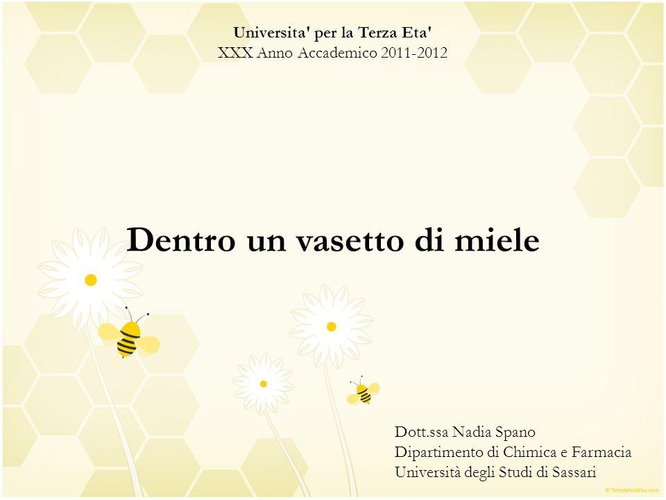 Universita' per la Terza Eta' XXX Anno Accademico 2011-2012 Dentro un vasetto di miele Dott.ssa Nadia Spano Dipartimento di Chimica e Farmacia Univers