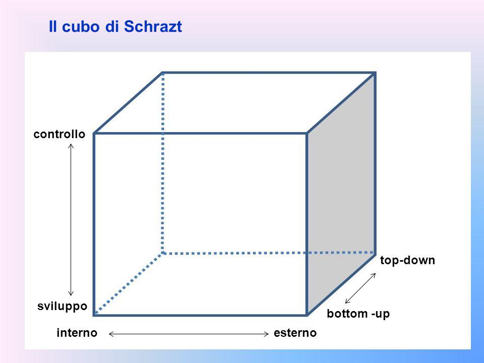 Il cubo di Schrazt controllo sviluppo internoesterno bottom -up top-down