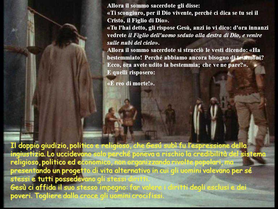 Or quelli che avevano arrestato Gesù, lo condussero dal sommo sacerdote Caifa, presso il quale già si erano riuniti gli scribi e gli anziani. Pietro i