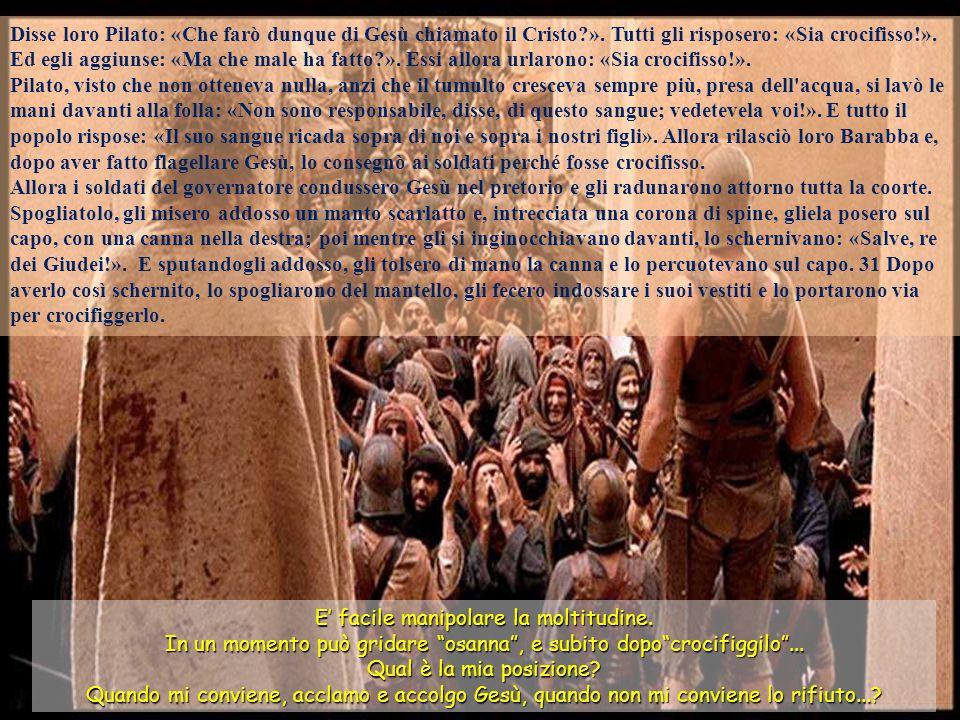 Allora si adempì quanto era stato detto dal profeta Geremia: E presero trenta denari d'argento, il prezzo del venduto, che i figli di Israele avevano