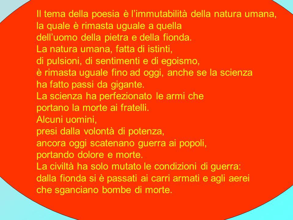 Il testo della poesia.(Prima parte) UOMO DEL MIO TEMPO.