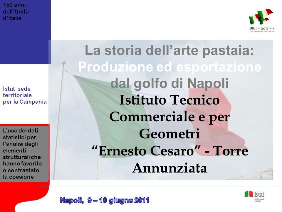 150 anni dell'Unità d'Italia Istat sede territoriale per la Campania L'uso dei dati statistici per l'analisi degli elementi strutturali che hanno favo