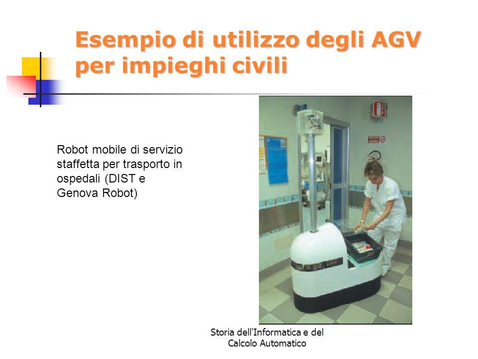 Storia dell'Informatica e del Calcolo Automatico Esempio di utilizzo degli AGV per impieghi civili Robot mobile di servizio staffetta per trasporto in