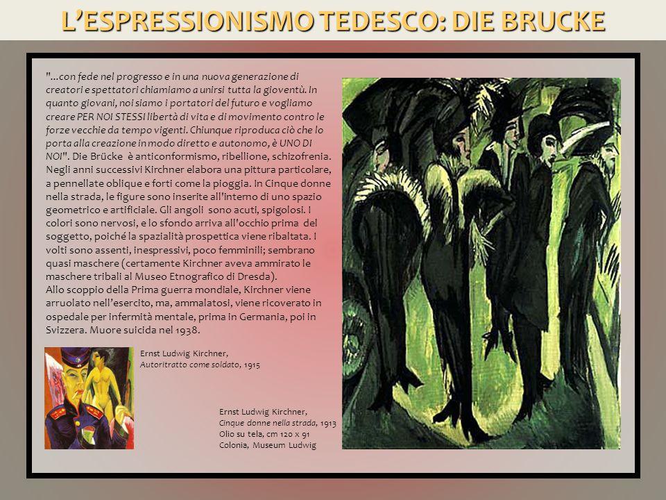 L'ESPRESSIONISMO TEDESCO: BLAUE REITER Il secondo focolaio dell'Espressionismo tedesco nasce a Monaco.