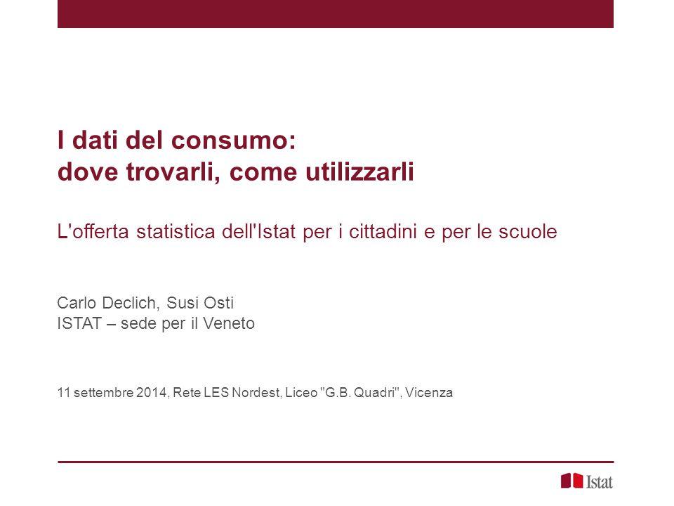 Indicatori di deprivazione Carlo Declich, Susi Osti – I dati del consumo: dove trovarli, come utilizzarli