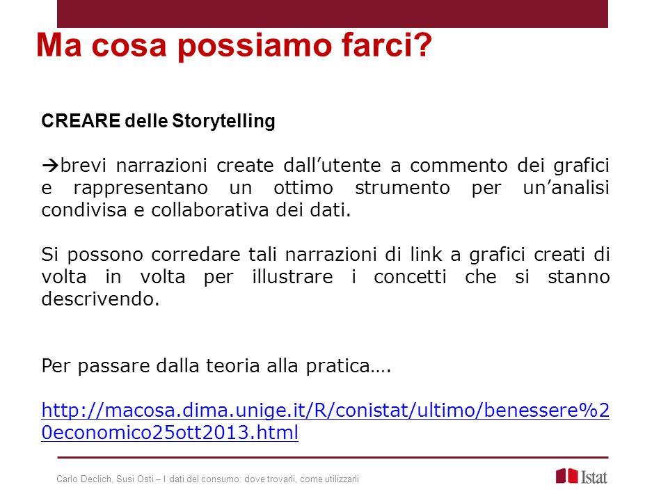 CREARE delle Storytelling  brevi narrazioni create dall'utente a commento dei grafici e rappresentano un ottimo strumento per un'analisi condivisa e collaborativa dei dati.