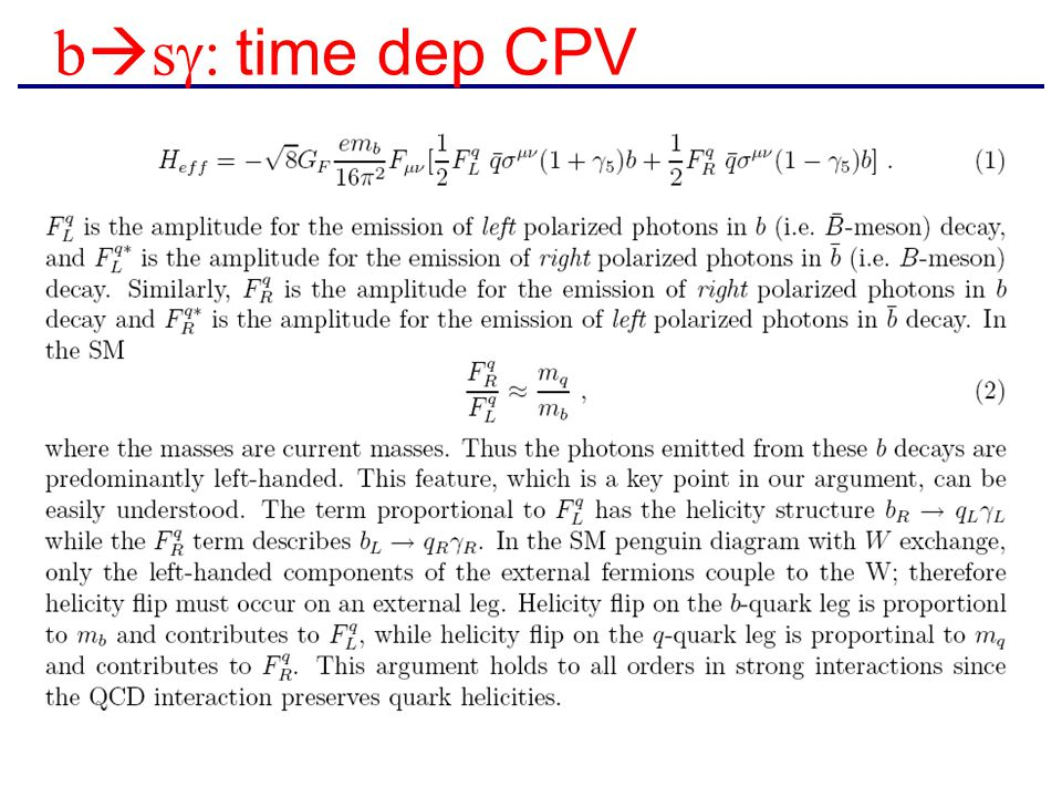 b  s  time dep CPV