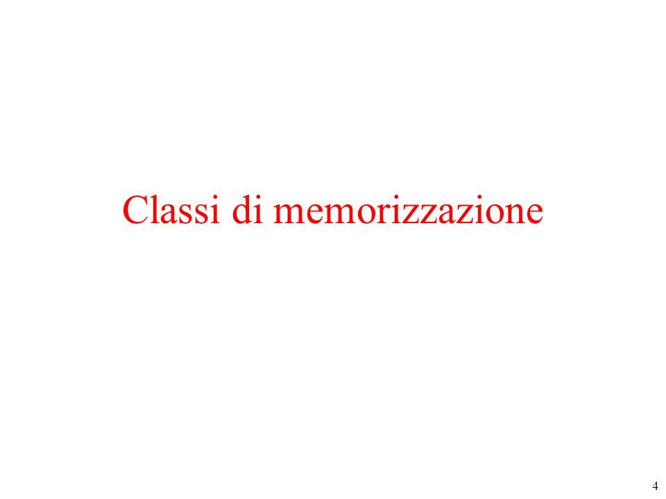 4 Classi di memorizzazione