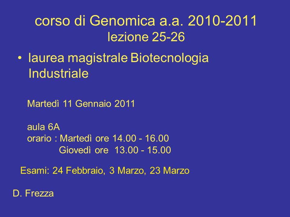 corso di Genomica a.a.