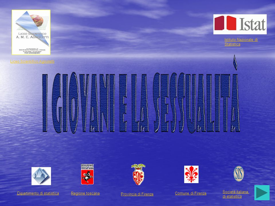 Dipartimento di statisticaRegione toscana Provincia di Firenze Comune di Firenze Società italiana di statistica Liceo Scientifico Agnoletti Istituto N