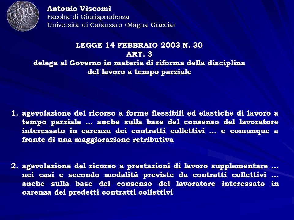 LEGGE 14 FEBBRAIO 2003 N. 30 ART.