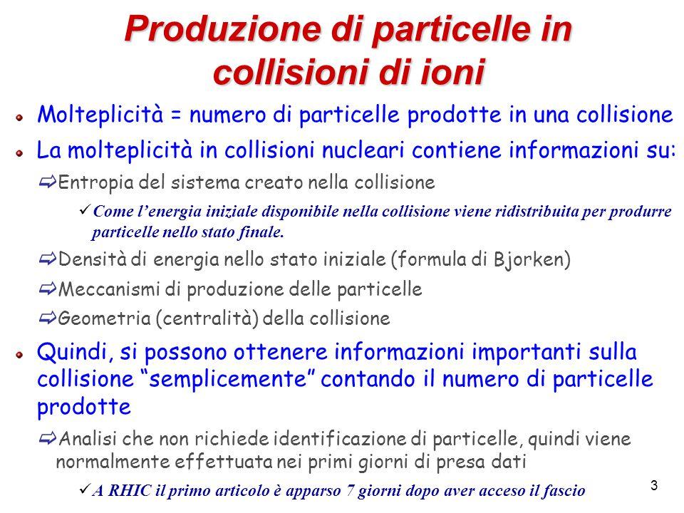 4 E' semplice contare le particelle.