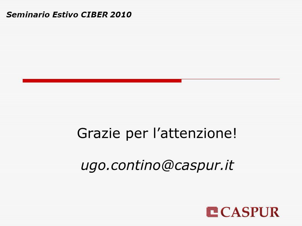 Seminario Estivo CIBER 2010 Grazie per l'attenzione! ugo.contino@caspur.it