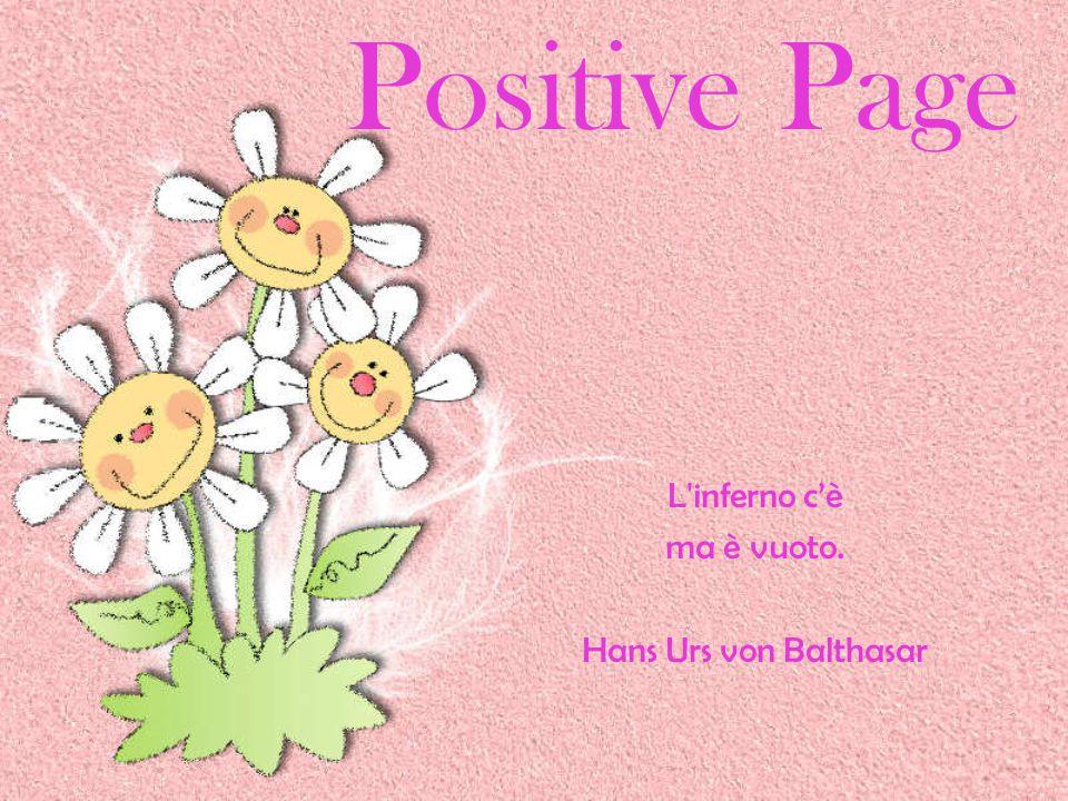 Positive Page L inferno c'è ma è vuoto. Hans Urs von Balthasar