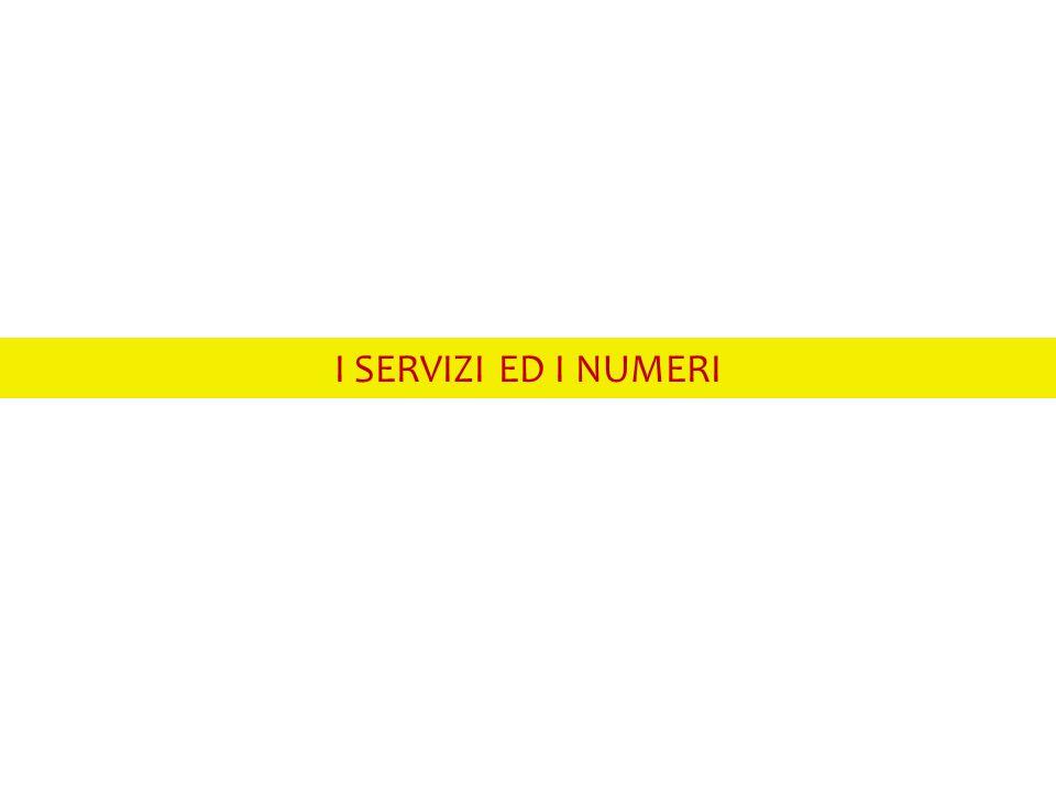 I SERVIZI ED I NUMERI