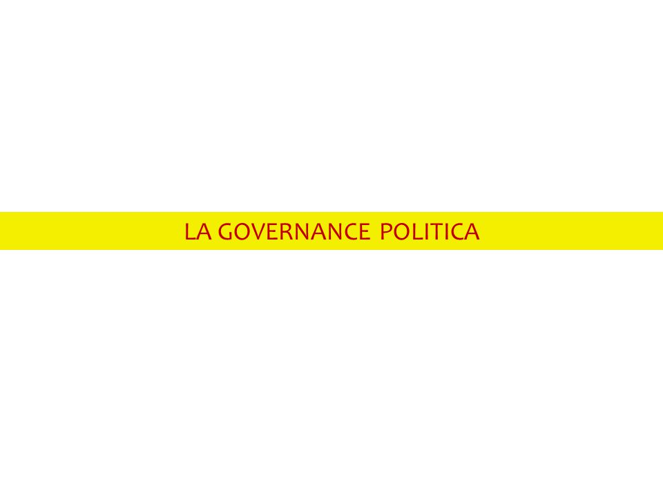 LA GOVERNANCE POLITICA