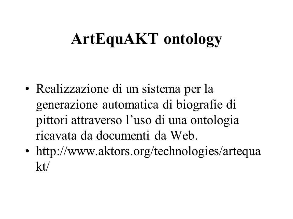 ArtEquAKT ontology Realizzazione di un sistema per la generazione automatica di biografie di pittori attraverso l'uso di una ontologia ricavata da doc