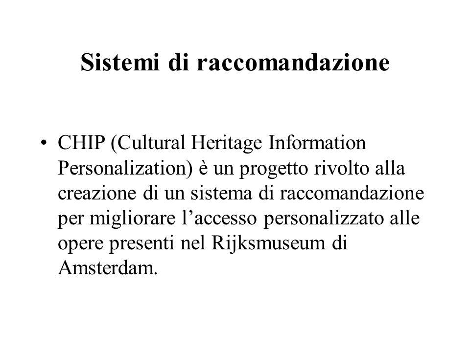 Sistemi di raccomandazione CHIP (Cultural Heritage Information Personalization) è un progetto rivolto alla creazione di un sistema di raccomandazione