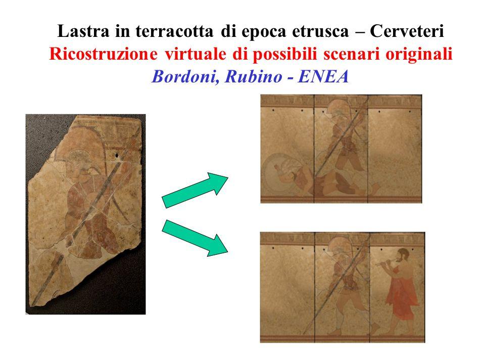 Lastra in terracotta di epoca etrusca – Cerveteri Ricostruzione virtuale di possibili scenari originali Bordoni, Rubino - ENEA