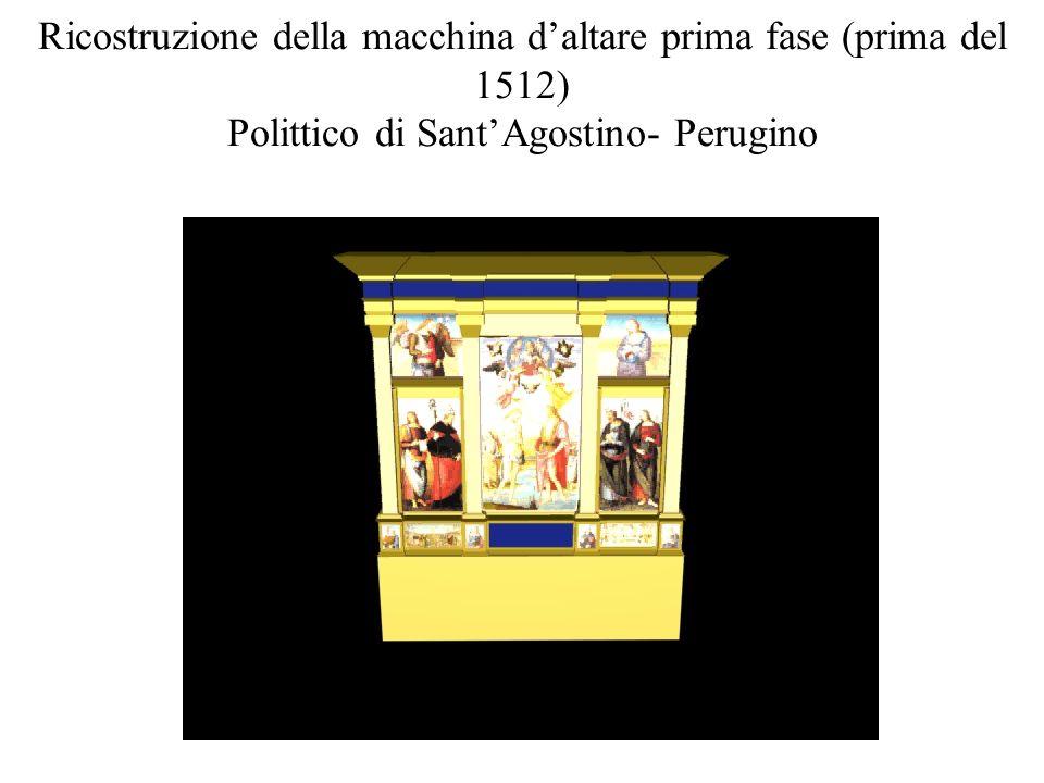 Ricostruzione della macchina d'altare prima fase (prima del 1512) Polittico di Sant'Agostino- Perugino
