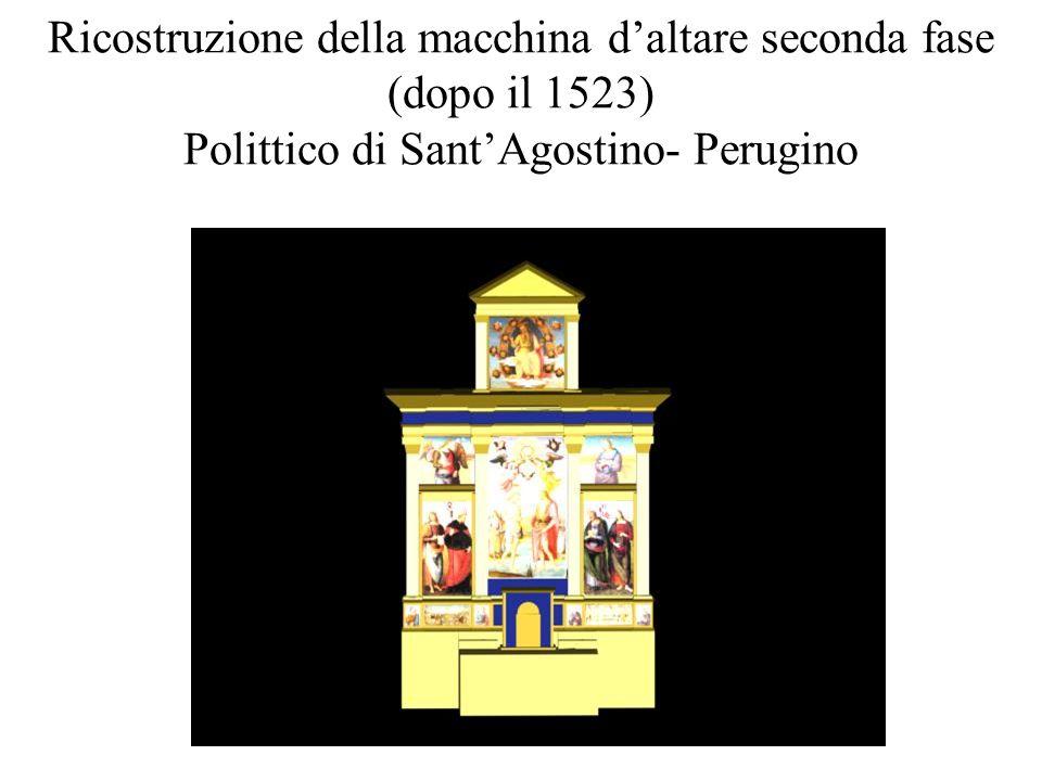 Ricostruzione della macchina d'altare seconda fase (dopo il 1523) Polittico di Sant'Agostino- Perugino