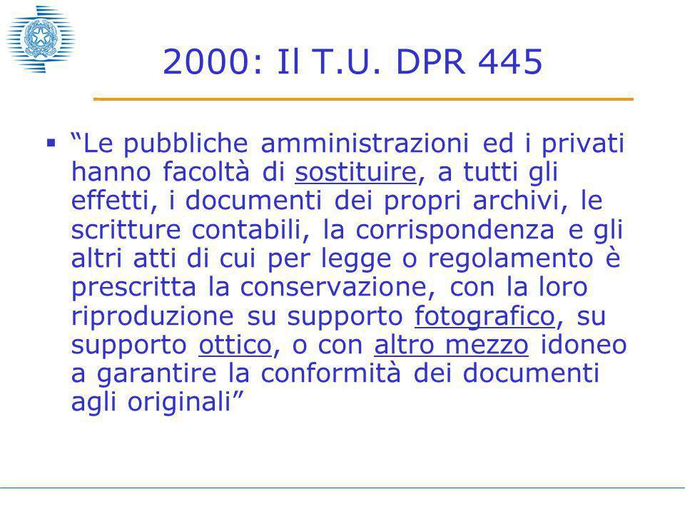 2000: Il T.U.