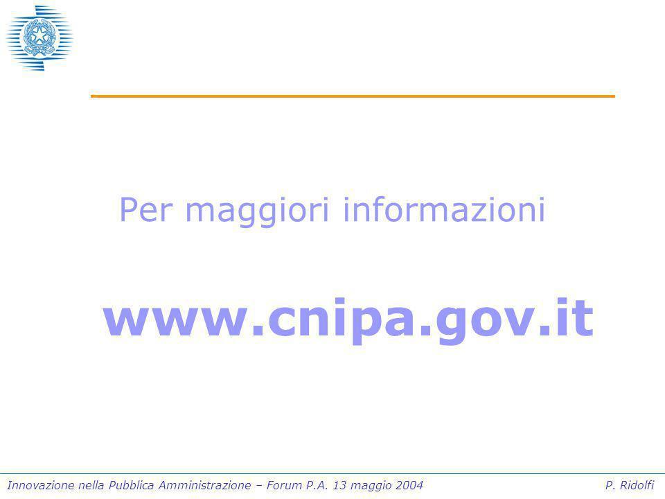 Innovazione nella Pubblica Amministrazione – Forum P.A.