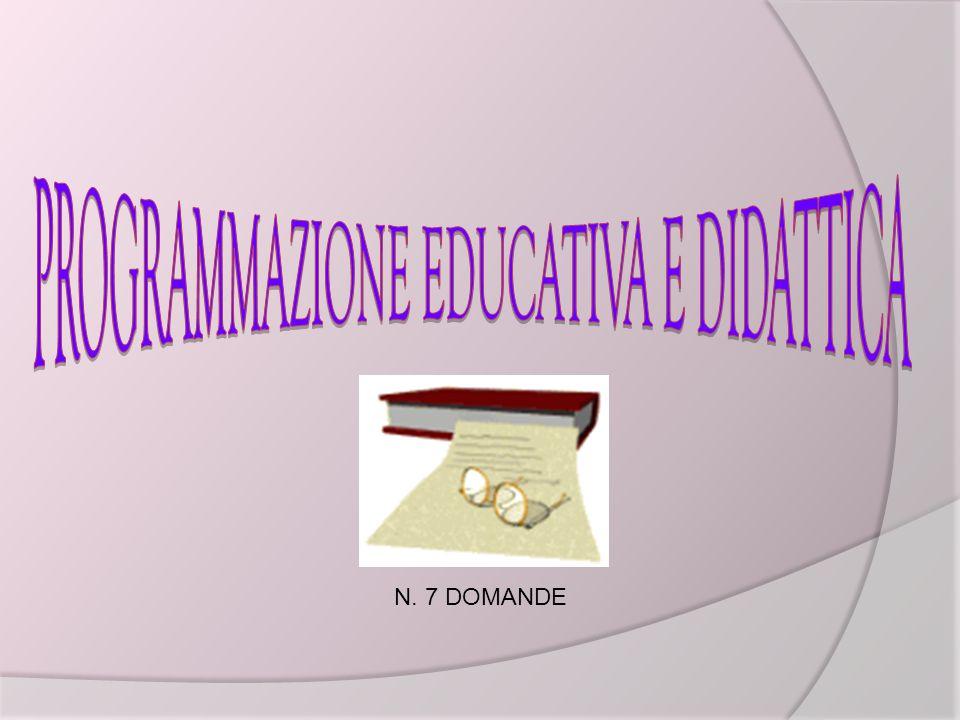 N. 7 DOMANDE