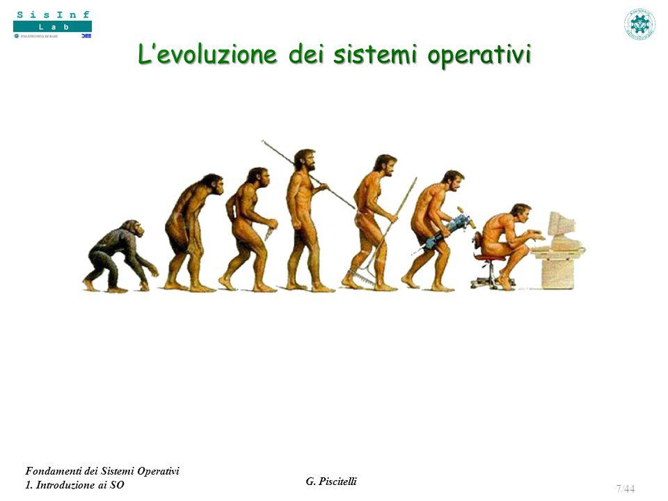 Fondamenti dei Sistemi Operativi 1. Introduzione ai SO G. Piscitelli 7/44