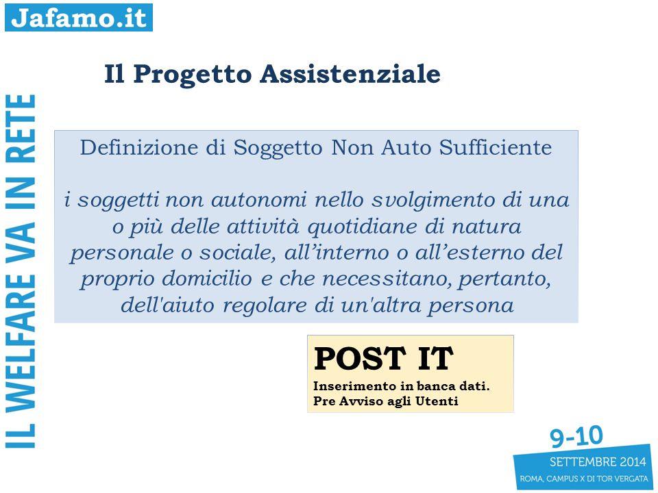 Il Progetto Assistenziale Definizione di Soggetto Non Auto Sufficiente i soggetti non autonomi nello svolgimento di una o più delle attività quotidian
