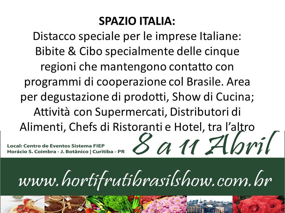 SPAZIO ITALIA: Distacco speciale per le imprese Italiane: Bibite & Cibo specialmente delle cinque regioni che mantengono contatto con programmi di coo