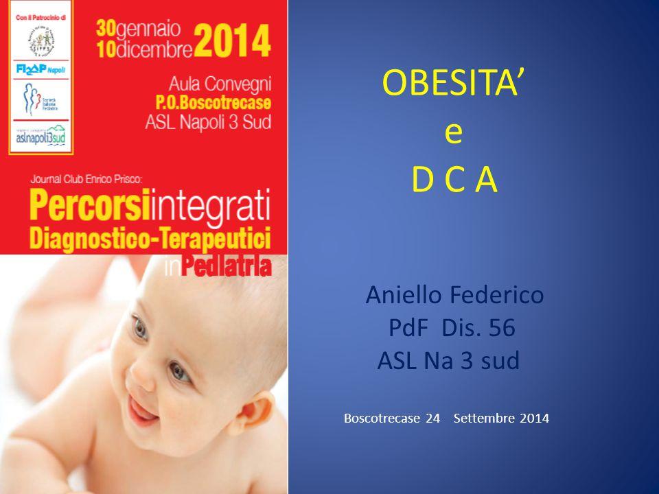 OBESITA' e D C A Aniello Federico PdF Dis. 56 ASL Na 3 sud Boscotrecase 24 Settembre 2014